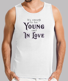 Young and in Love Hombre, sin mangas, blanca
