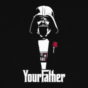 Tee-shirts Your Father (The GodFather & Star Wars)