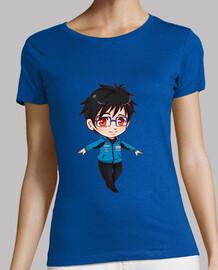 Yuri on Ice (Yuri), Mujer, manga corta, azul cielo, calidad premium