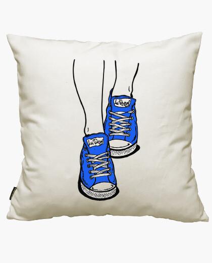 Funda cojín Zapatillas Azul