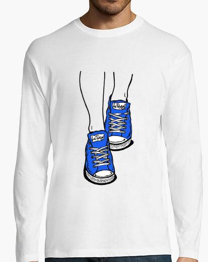 Camiseta Zapatillas Azul