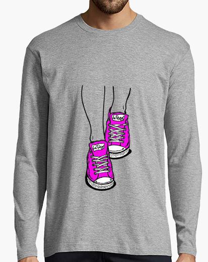 Camiseta Zapatillas Rosa