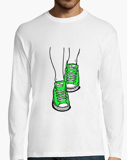 Camiseta Zapatillas verde lima