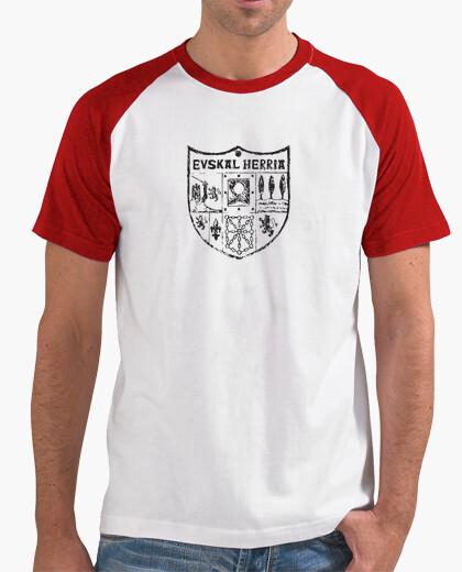 T-Shirt zazpiak fledermaus euskal herria schwarz