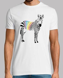 Zebra del orgullo. camiseta