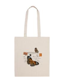 Zip bag vintage butterflies