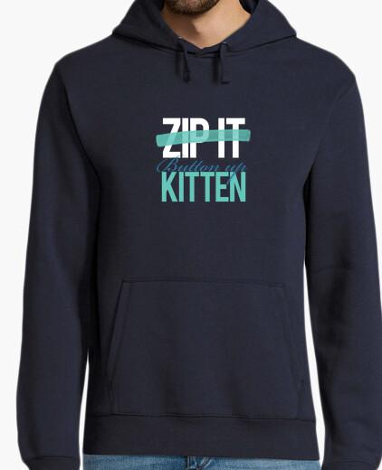 Jersey Zip it/button up kitten