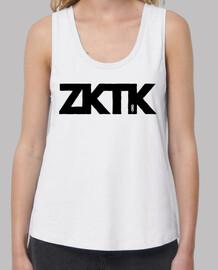 zktk strapless black letters woman
