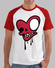 zombie  tête de mort  coeur rouge