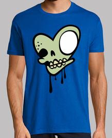 zombie coeur du  tête de mort