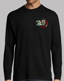 zombie logo long manga t-shirt