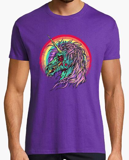 T-shirt zombie unicorno
