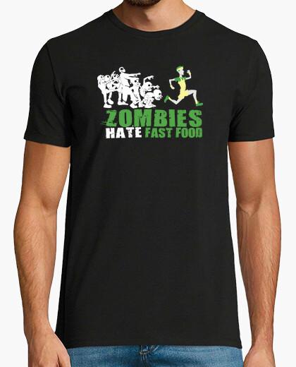 Camiseta Zombies odian la comida rápida