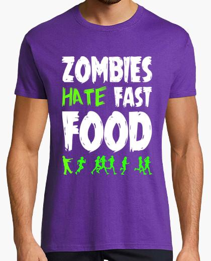 Tee-shirt Zombis détestent les aliments