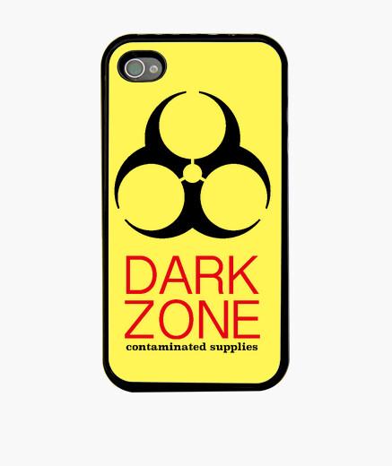 Coque iPhone zone sombre de l'iphone 4, noir