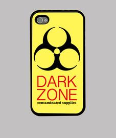 zone sombre de l'iphone 4, noir
