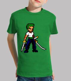 Zoro 16bit (Camiseta Niño)