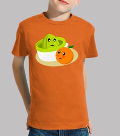 Zumo de naranja. Naranja kawaii