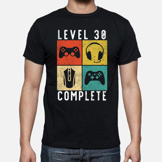 30th birthday level complete gaming t-shirt