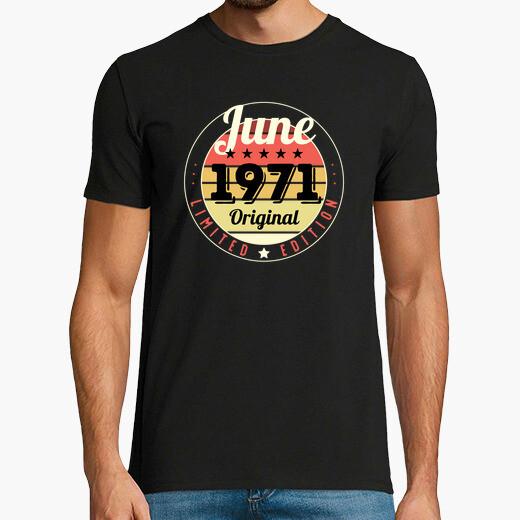 50th birthday 50 years 1971 june t-shirt