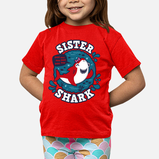 Abbigliamento bambino colpo di shark sister
