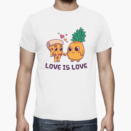 Amore pizza lgtb con t-shirt all'ananas