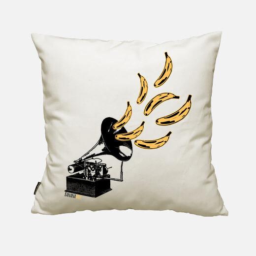 Banana jazz cushion cover