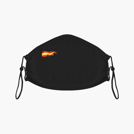 Bandera España fuego mascarilla