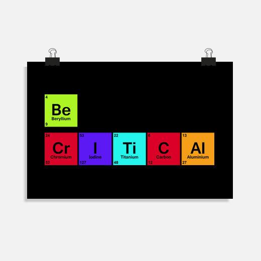 Be critical poster