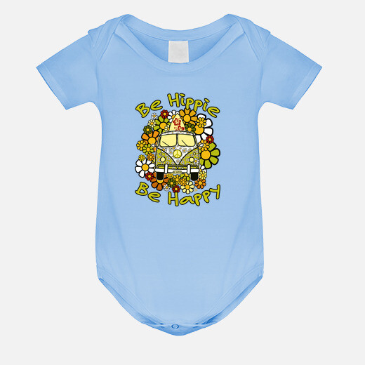 Be hippie be happy kids clothes