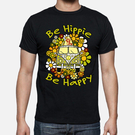 Be hippie be happy t-shirt