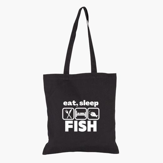 Bolsa comer pescado dormido