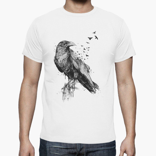 Born to be free (bw) t-shirt