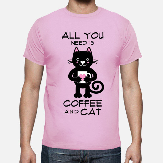 Camiseta ALL YOU NEED IS COFFEE AND CAT