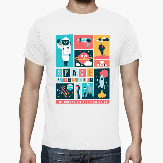 Camiseta aventuras espaciales
