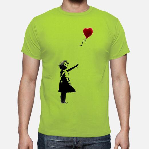 Camiseta Banksy Girl With Balloon