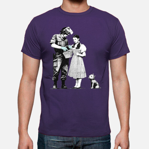 Camiseta Banksy Stop and Search