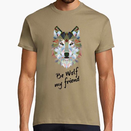 Camiseta Be wolf my friend. M/c chico