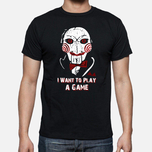Camiseta Billy - I Want To Play a Game (Saw)