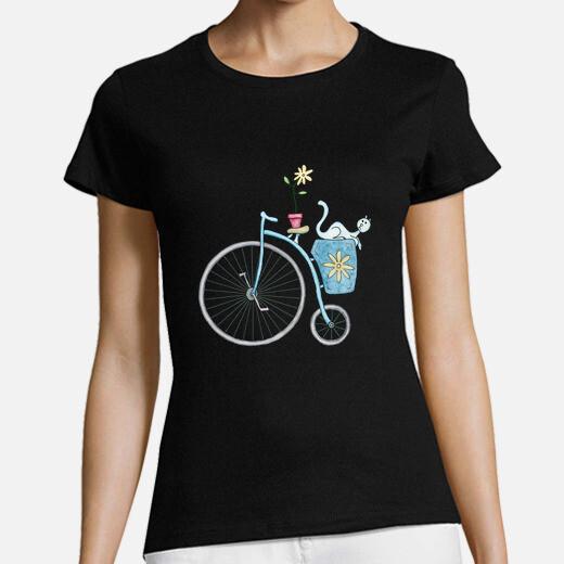 Camiseta Blue vintage bicycle with blue...