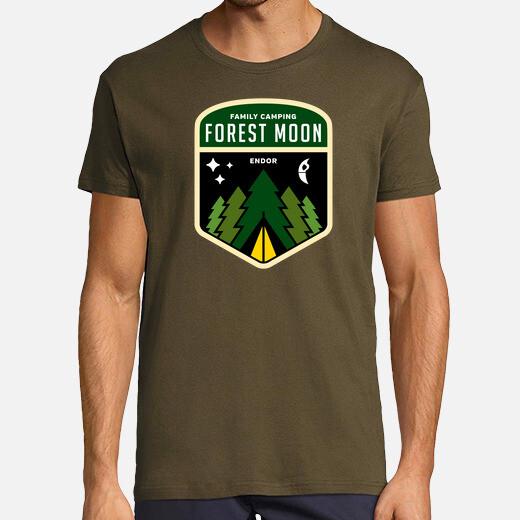Camiseta bosque luna de camping
