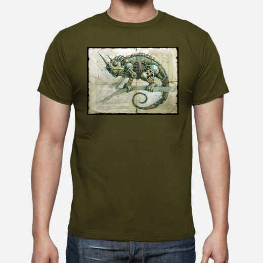 Camiseta Camaleón steampunk