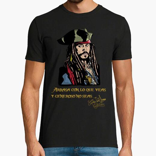 Camiseta Capitán Jack Sparrow - Arrasa...