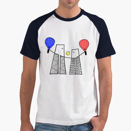 Camiseta chico piano-pádel con texto espalda