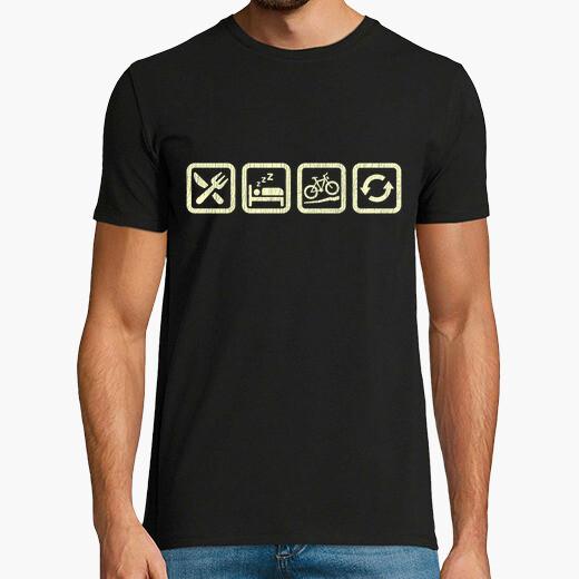 Camiseta Comer Dormir Bicicleta BTT Repetir