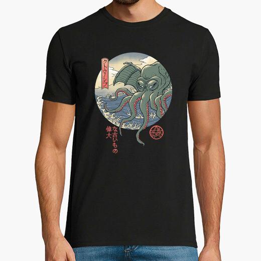 Camiseta cthulhu ukiyo-e camisa hombre