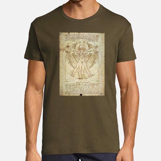 Camiseta Cthulhu vitruvio (chico)