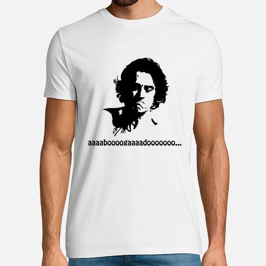 Camiseta De Niro (abogado) negro sobre blanco