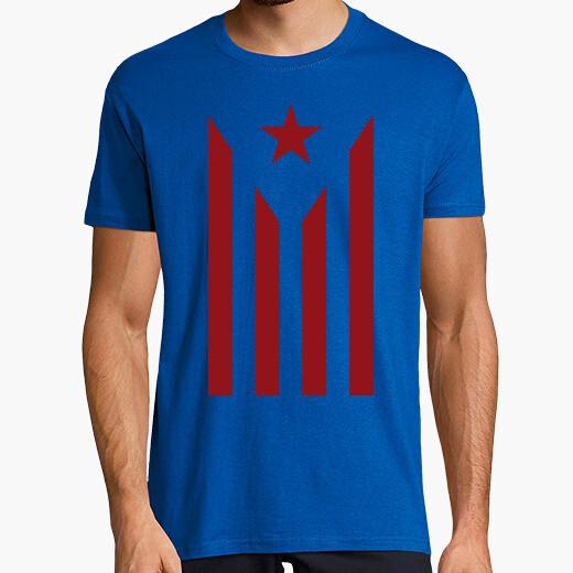 Camiseta Estelada grana Impresió directa.