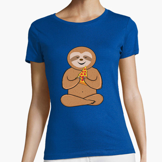 Camiseta funny sloth pizza lovers colorful